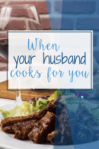 "when your husband cooks for you - Joining the 'Men who cook"" club again"