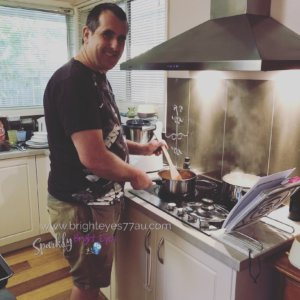 when your husband cooks for you - joining the men who cook club - man cooking spaghetti (2)